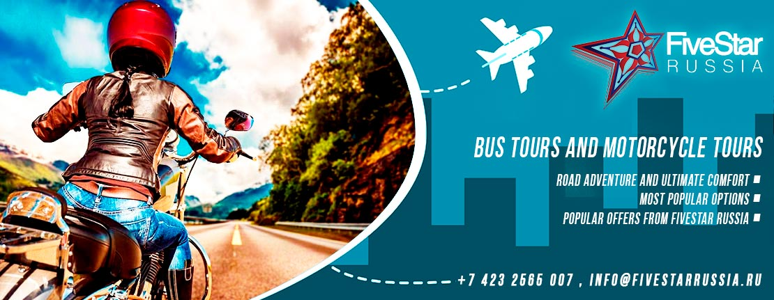 Bus tours and motorcycle tours